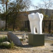 Monument to a tooth in Chita, Russia