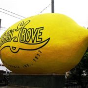 Monument to lemon in California, USA