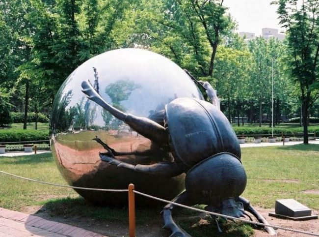 Monument to the Scarab beetle in Anian, South Korea