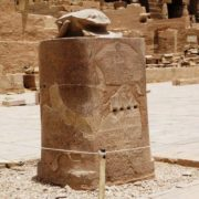 Monument to the Scarab beetle in Luxor, Egypt
