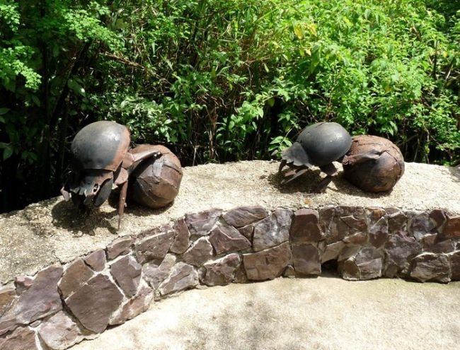 Monument to the Scarab beetles in Tanzania