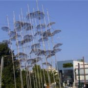 Monument to the umbrella in Athens, Greece