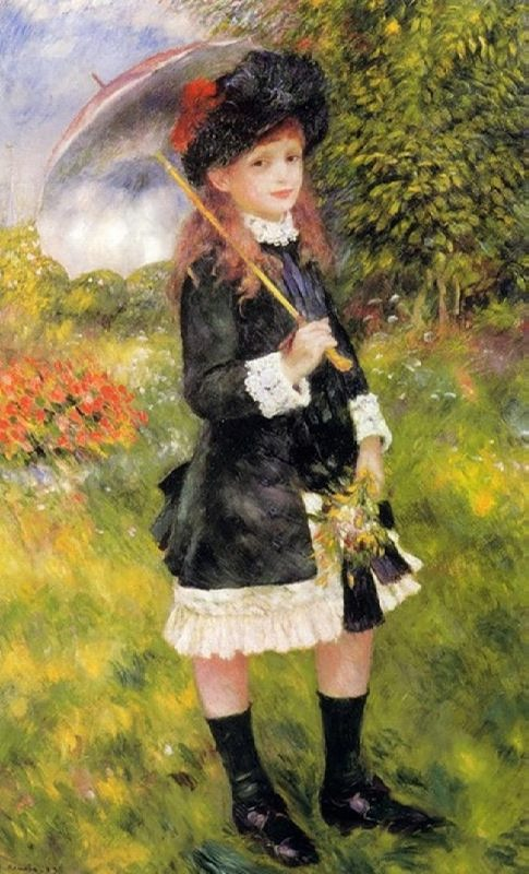 Pierre Auguste Renoir. Girl with umbrella
