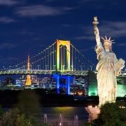 Replica of the statue of Liberty in Japan