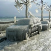 Switzerland. The photo shows the effects of icy rain