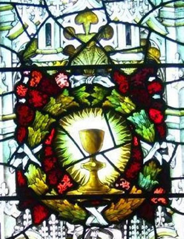 The Holy Grail. Stained glass