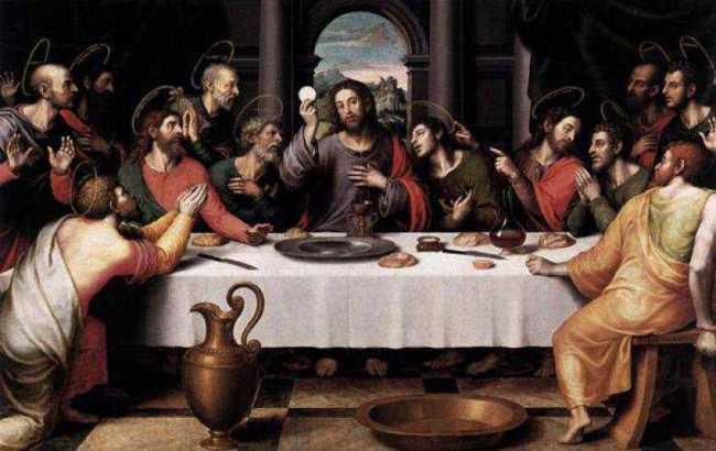 The Last Supper. Juan de Juanes. 1562