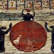 The image of the sun and the god Khepri