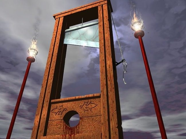 The professional tool of executioners - guillotine
