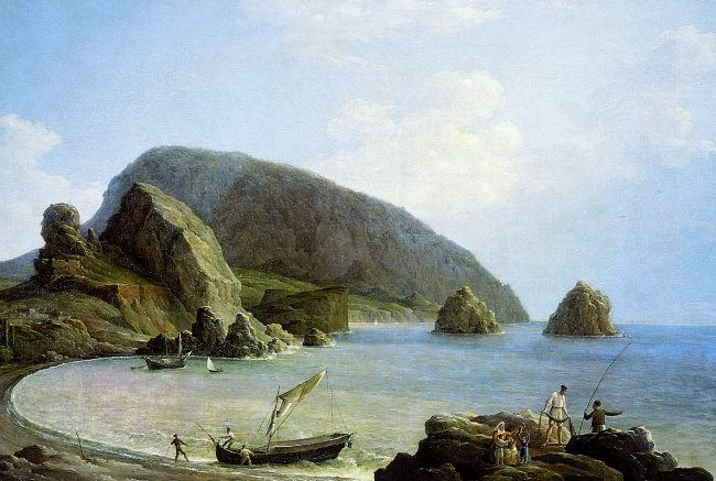 View of Ayudag in Crimea, 1836. Nikanor Chernetsov