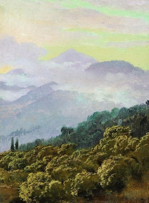 View of the Crimean mountains. Vereshchagin Vasily