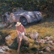 Amazing Retro cars by Alan Fearnley