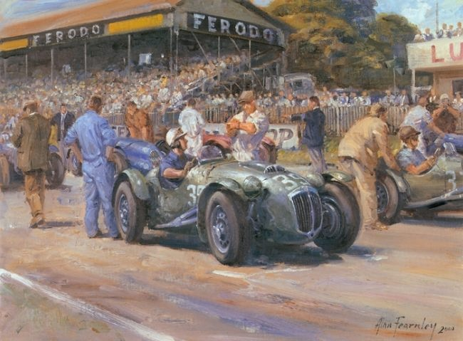 Attractive Retro cars by Alan Fearnley