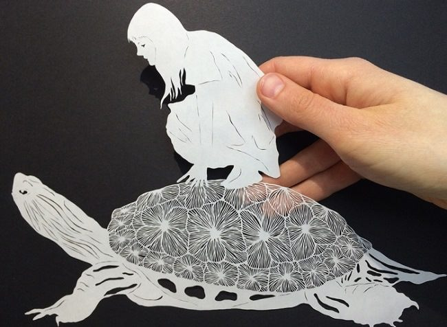 Attractive paper picture by Maude White
