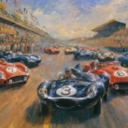 Beautiful Retro cars by Alan Fearnley