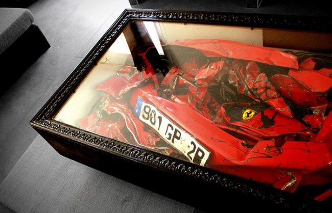 Broken Ferrari by Charlie Molinelli