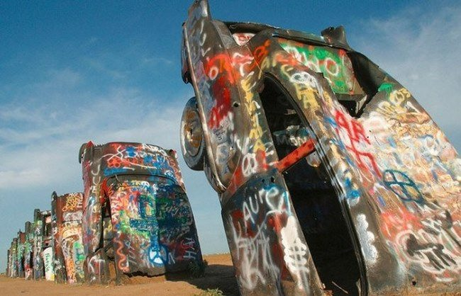 Cadillac Ranch by Ant Farm