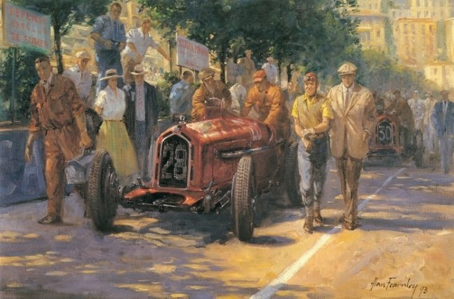 Charming Retro cars by Alan Fearnley