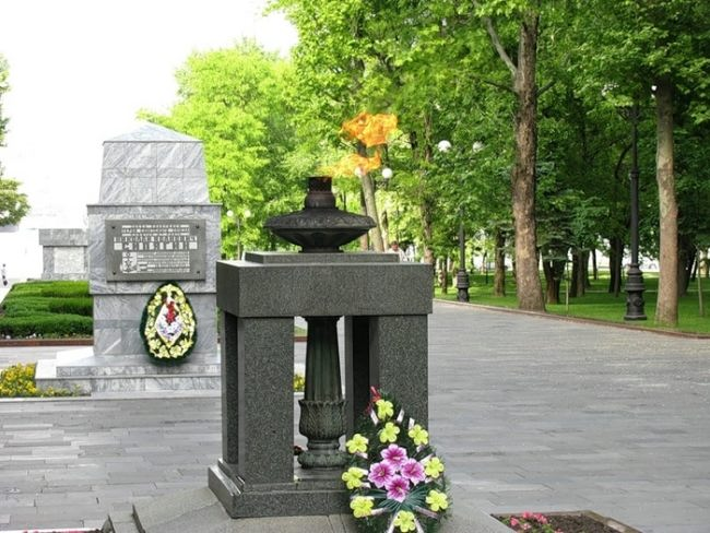 Eternal Flame at Heroes' Square in Novorossiysk, Russia