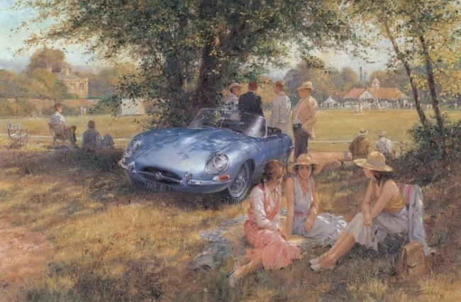 Gorgeous Retro cars by Alan Fearnley