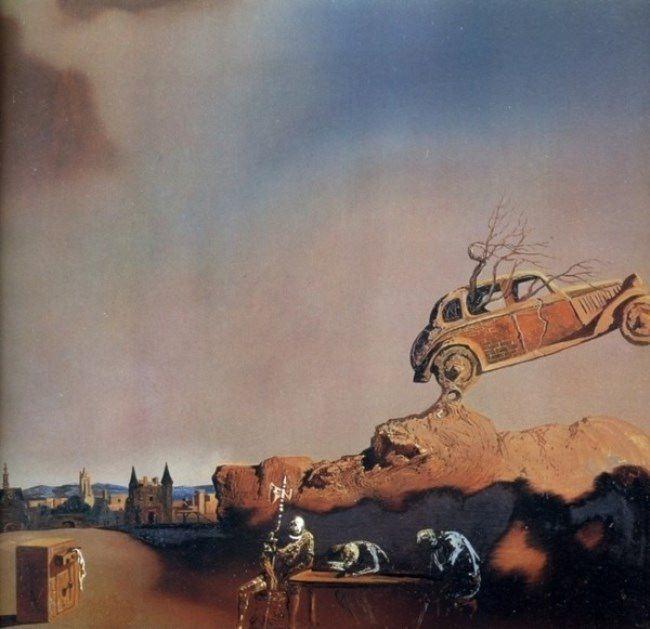 Graceful car by Salvador Dali