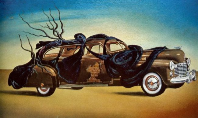 Interesting car by Salvador Dali