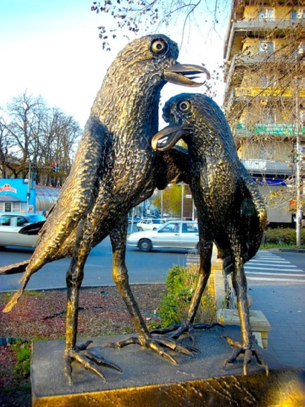Monument to loving crows, Stavropol
