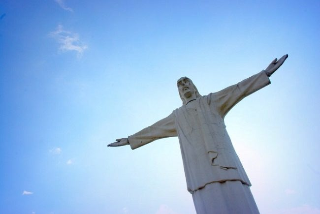 Smaller copy of the famous sculpture of Christ the Redeemer in Rio de Janeiro