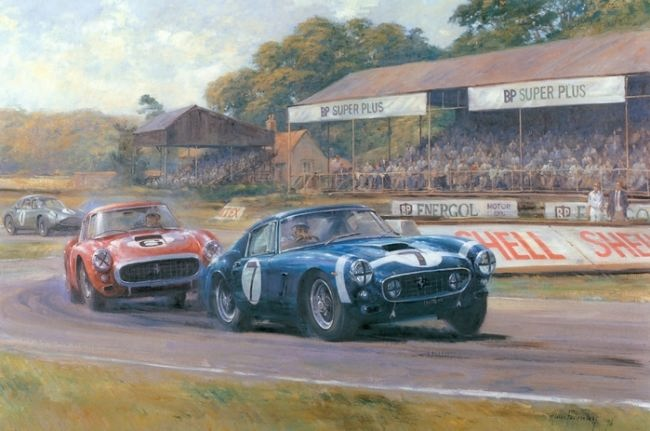 Stunning Retro cars by Alan Fearnley