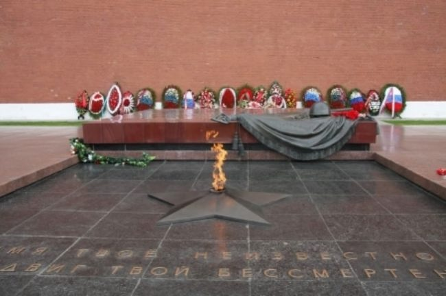 Tomb of the Unknown Soldier in Moscow, Russia