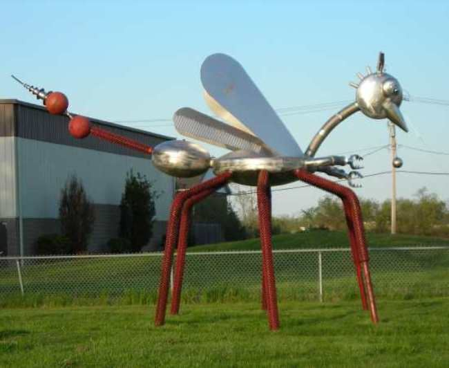 Awesome Mosquito monument in the USA