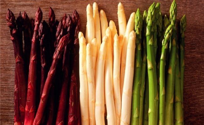 Colorful asparagus