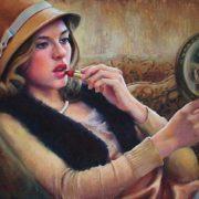 Esther Borough Johnson. Girl with a lipstick, 1925