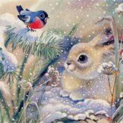 Hare and bullfinch