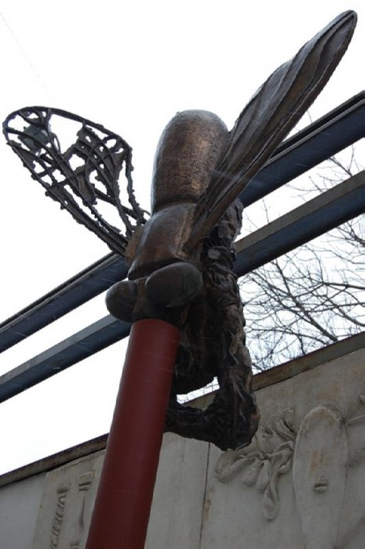 Monument to a fly in Moscow, Russia