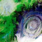 Richat Structure in the Moorish part of the Sahara Desert