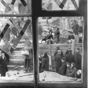 Broken window of the Leningrad Theater of Young Spectators after the German shelling. 10.05.1941