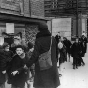 Children from Leningrad boarding school No. 7 are walking, 09.21.1941