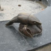 Monument to crayfish in Soligorsk, Belarus