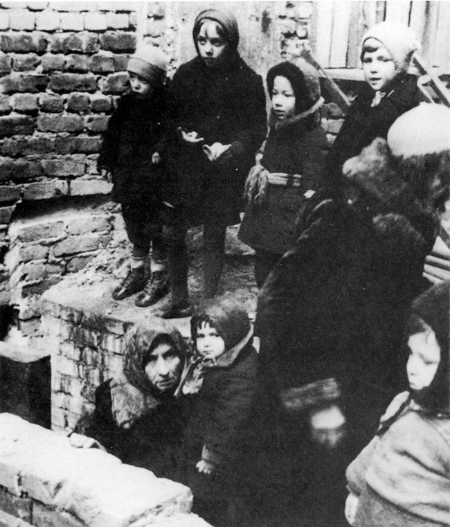 The small inhabitants of Leningrad at the bomb shelters