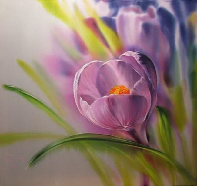 Amazing painting on silk