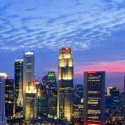 Singapore melting pot blue color