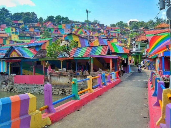 Indonesian rainbow village Kampung Pelangi
