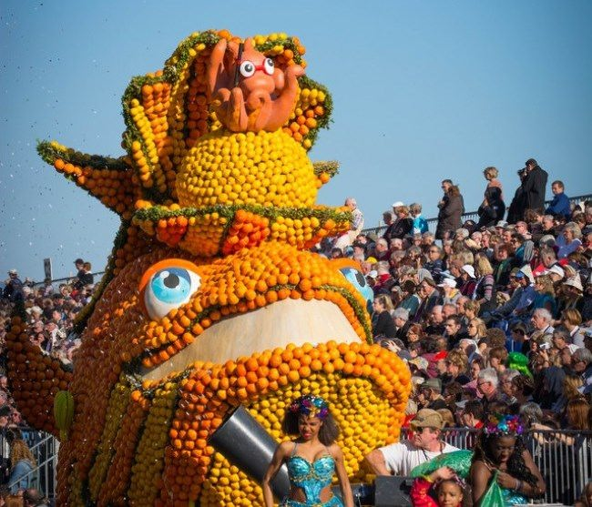 Menton France Colorful Lemon Festival