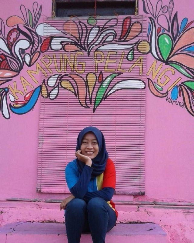 Indonesian rainbow village Kampung Pelangi