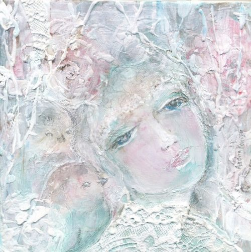Wild rose. Artist Alyona Koneva. White color meaning in Slavic mythology