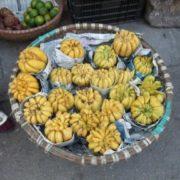 Exotic lemon yellow fruit Buddha's hand