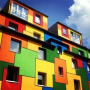 Colorful architecture all over the world