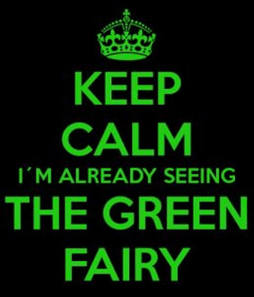 Symbolic Green color in British folklore