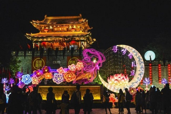 Chinese colorful Mid-Autumn Festival